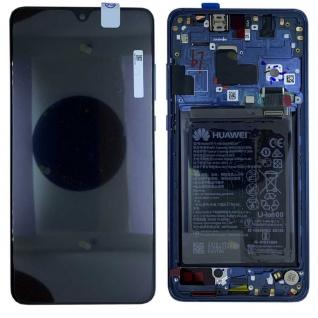 Huawei Display LCD Rahmen für Mate 20 Service 02352FQM Midnight Blue Blau
