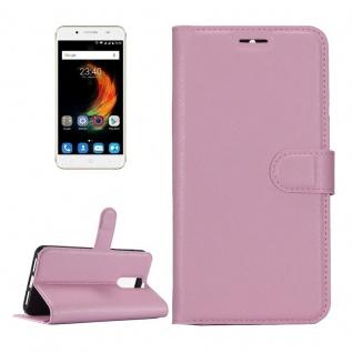 Tasche Wallet Premium Rosa für ZTE Blade A610 Plus Hülle Case Cover Etui Schutz