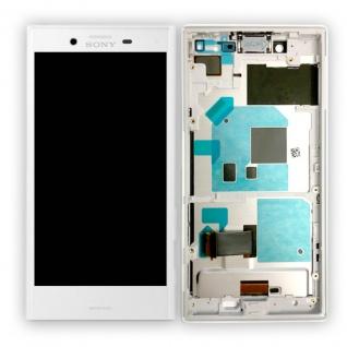 Sony Display LCD Komplett mit Rahmen für Xperia X Compact F5321 Weiß Ersatz Neu
