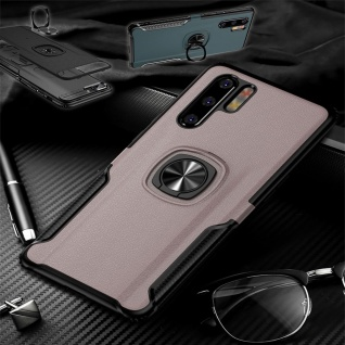 Für Huawei P30 Pro Magnet Metall Ring Hybrid Pink Tasche Hülle Etuis Cover Case