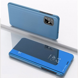 Für Samsung Galaxy M51 M515F View Smart Cover Blau Handy Tasche Etuis Wake UP