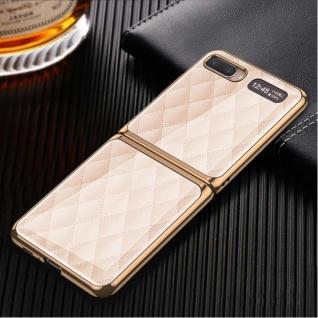 Für Samsung Galaxy Z Flip Schutzcase Hartschale Schutz Pink Grid Cover Zubehör