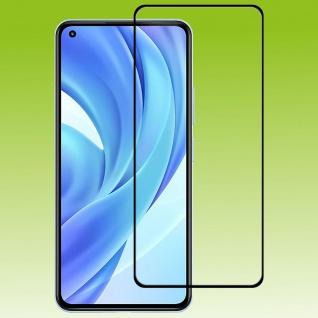 Für Xiaomi Mi 11 Lite 2x 3D Display LCD H9 Hart Glas Schwarz Folie Panzer Schutz