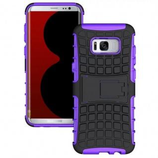 Hybrid Case 2teilig Outdoor Lila Tasche Hülle für Samsung Galaxy S8 Plus G955F