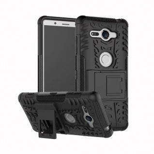 Hybrid Case 2teilig Outdoor Schwarz Tasche Hülle für Sony Xperia XZ2 Compact Neu