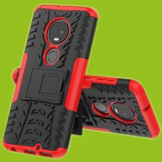 Für Motorola Moto G7 / G7 Plus Hybrid 2teilig Outdoor Rot Tasche Etuis Hülle Neu