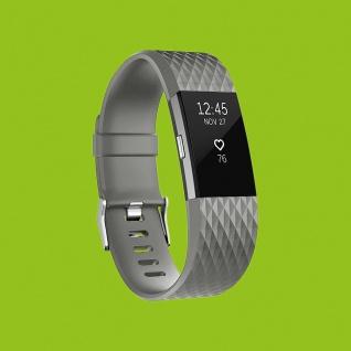 Für Fitbit Charge 2 Kunststoff / Silikon Armband für Männer / Größe L Grau Uhr