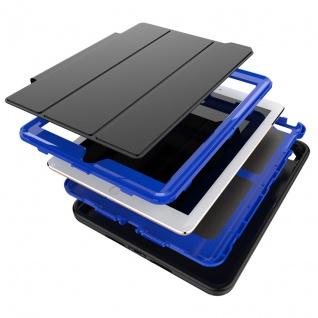 Hybrid Outdoor Schutzhülle Blau für Samsung Galaxy Tab A 10.5 T590 Tasche Hülle - Vorschau 3