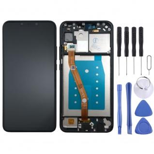 Für Huawei P Smart Plus Display Full LCD Touch mit Rahmen Reparatur Schwarz Neu