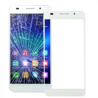 Displayglas Glas Schutz Weiss für Huawei Honor 6 Reparatur Ersatz Zubehör Neu