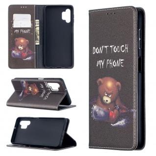 Für Samsung Galaxy A32 5G Kunst-Leder Handy Tasche Motiv 1 Hülle Case Etuis Case