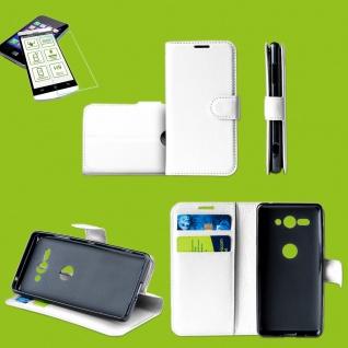 Für Samsung Galaxy M20 6.3 Zoll Tasche Wallet Weiß Hülle Etui + H9 Hart Glas Neu