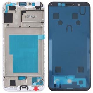 Gehäuse Rahmen Mittelrahmen Deckel für Huawei Y6 2018 Weiß Reparatur Ersatz