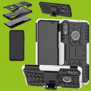 Für Huawei P Smart / Plus 2019 Hybrid 2teilig Outdoor Weiß Tasche Hülle Etuis
