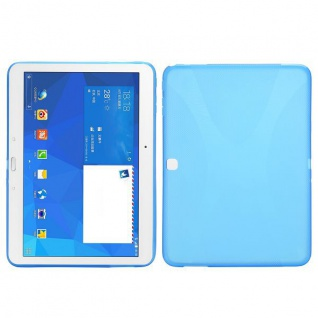 Silikonhülle Blau für Samsung Galaxy Tab 4 SM-T530 T530 Hülle Case Cover Kappe