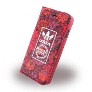 Adidas Bohemian Tasche Book Cover Apple iPhone 7 Hülle Handytasche Etui Rot Neu - Vorschau 1