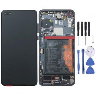 Huawei Display LCD Pack Rahmen für P40 Service 02353MFA Schwarz Black Batterie
