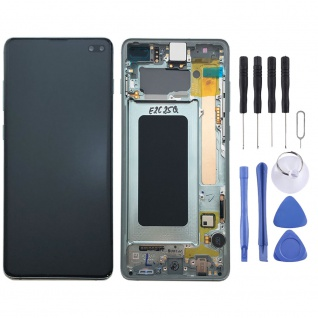 Samsung Display LCD Komplettset GH82-18849E Grün für Galaxy S10 Plus G975F 6.4