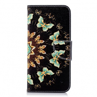 Tasche Wallet Book Muster Motiv 32 für Smartphones Schutz Hülle Case Cover Etui - Vorschau 3