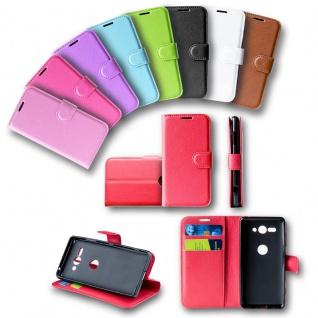 Für Huawei Y6 2018 Tasche Wallet Premium Lila Hülle Case Cover Schutz Etui Neu - Vorschau 2