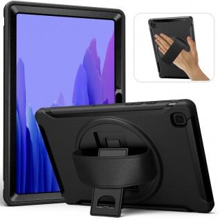 Für Samsung Galaxy Tab A7 T500 2020 Hybrid Outdoor Schwarz Tasche Cover Hülle