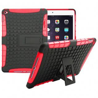 Hybrid Outdoor Schutzhülle Cover Rot für Apple iPad Air 2 Tasche Case Hülle Neu