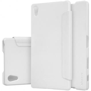 Nillkin Smartcover Weiß für Sony Xperia Z5 Premium 5.5 Zoll Tasche Cover Hülle