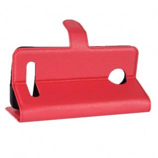 Tasche Wallet Premium Rot für Motorola Moto Z2 Play Hülle Case Cover Etui Schutz - Vorschau 4