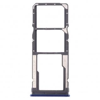 Sim Card Tray für Xiaomi Redmi Note 8 Blau Karten Halter Schlitten Holder Ersatz