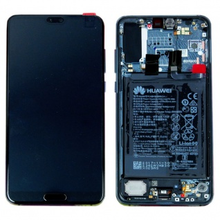 Huawei Display LCD Rahmen für P20 Pro Service Pack 02351WTU Twilight Batterie