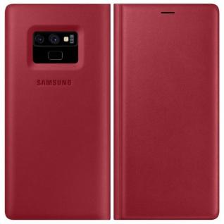 Samsung Leder Cover Tasche Hülle EF-WN960LREGWW für Galaxy Note 9 N960F Rot Neu
