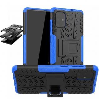 Für Samsung Galaxy S10 Lite G770F Hybrid 2teilig Outdoor Blau Handy Tasche Cover