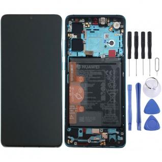 Huawei Display LCD Rahmen für P30 Service 02352NLN Blau / Aurora Blue Batterie