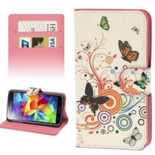 Bookcover Wallet Muster für Smartphones Tasche Hülle Case Etui Cover Schutz Top - Vorschau 4