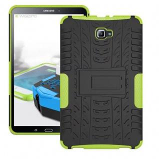 Hybrid Outdoor Schutzhülle Grün für Samsung Galaxy Tab A 10.1 T580 T585 Tasche