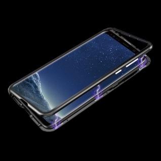 Für Huawei P Smart Plus Magnet / Metall Glas Rot / Transparent Tasche Hülle Case - Vorschau 3