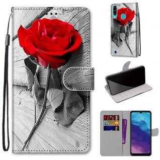 Für ZTE Blade A7 2020 Kunst-Leder Handy Tasche Motiv 2 Hülle Etuis Cover Schutz