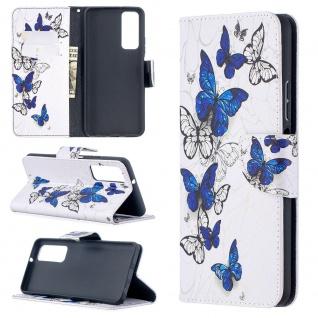 Für Huawei P Smart 2021 Kunst-Leder Handy Tasche Motiv 6 Hülle Case Etuis Cover