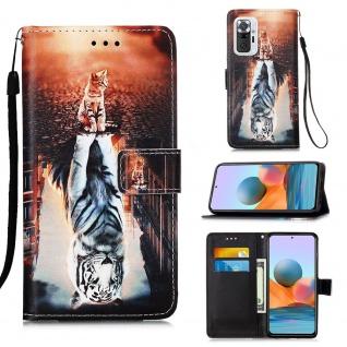 Für Xiaomi Redmi Note 10 Pro Kunst-Leder Handy Tasche Motiv 13 Hülle Case Etuis