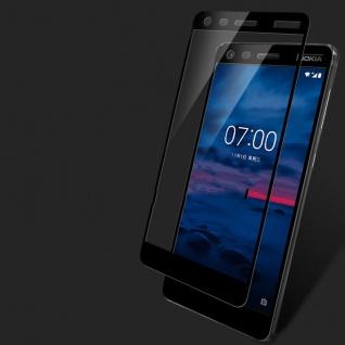 Premium 0, 3 mm H9 Panzerglas Schwarz Folie für Nokia 2 2017 Schutz Neu Hülle