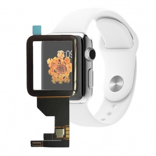 Touchscreen Glas für Apple Watch 42mm Reparatur mit Flex Kabel Digitizer Schwarz