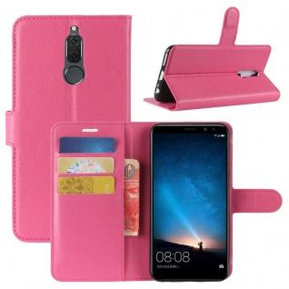 Tasche Wallet Premium Pink für Huawei Mate 10 Lite Hülle Case Cover Etui Schutz