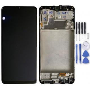 Samsung LCD Display für Galaxy M32 + Frame GH82-25981A Schwarz Ersatz Teil