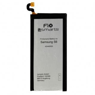 FIX4Smarts Akku für Samsung Galaxy S6 G920F ersetzt EB-BG920ABE Batterie Neu