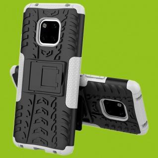 Für Huawei Mate 20 Pro Hybrid Case 2teilig Outdoor Weiß Tasche Cover Hülle Case