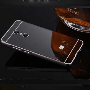 Spiegel / Mirror Alu Bumper 2teilig Schwarz für Xiaomi Redmi 5 Tasche Hülle Neu
