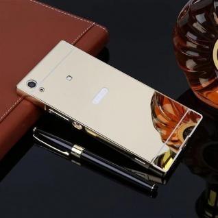 Alu Bumper 2teilig Abdeckung Gold für Sony Xperia XA1 G3112 G3121 Tasche Case