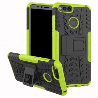 Hybrid Case 2teilig Outdoor Grün Tasche Hülle für Huawei Honor 7X Etui Cover Neu