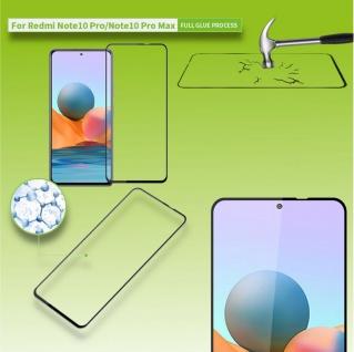 Für Xiaomi Redmi Note 10 Pro 3D Display LCD H9 Hart Glas Schwarz Folie Panzer
