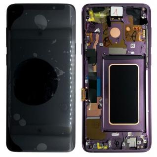 Samsung Display Full LCD Komplettset GH97-21696B Lila für Galaxy S9 G960F / Duos